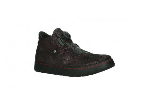 wolky chaussures a lacets 02326 rap 43510 daim metal bordo_3