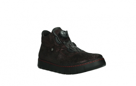 wolky chaussures a lacets 02326 rap 43510 daim metal bordo_4