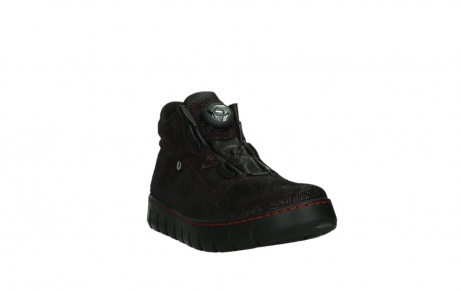 wolky chaussures a lacets 02326 rap 43510 daim metal bordo_5