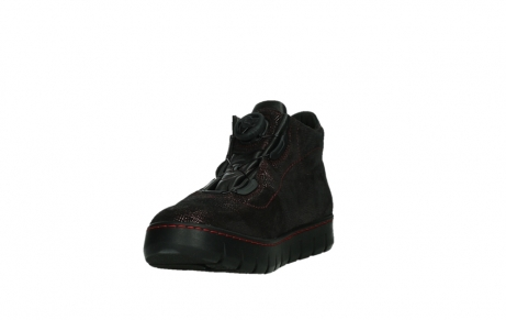 wolky chaussures a lacets 02326 rap 43510 daim metal bordo_9