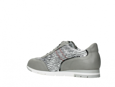 wolky chaussures a lacets 02526 yell xw 88130 cuir gris argente_15