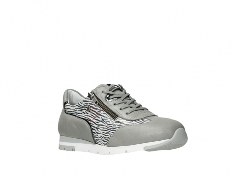 wolky chaussures a lacets 02526 yell xw 88130 cuir gris argente_4