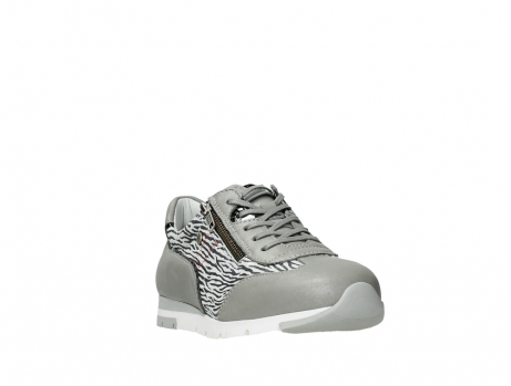 wolky chaussures a lacets 02526 yell xw 88130 cuir gris argente_5
