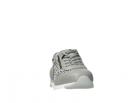 wolky chaussures a lacets 02526 yell xw 88130 cuir gris argente_6