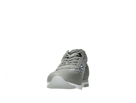 wolky chaussures a lacets 02526 yell xw 88130 cuir gris argente_8