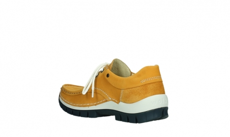 wolky chaussures a lacets 04701 fly 11558 nubuck orange blue_16