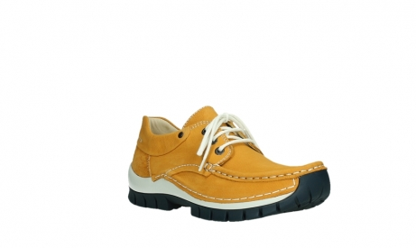 wolky chaussures a lacets 04701 fly 11558 nubuck orange blue_4