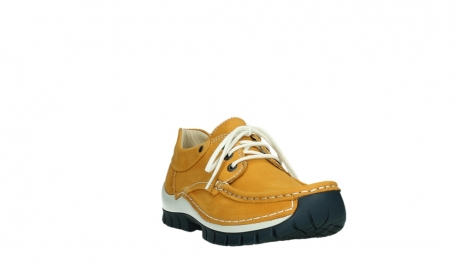 wolky chaussures a lacets 04701 fly 11558 nubuck orange blue_5