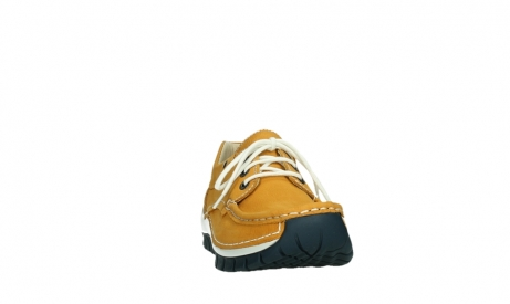 wolky chaussures a lacets 04701 fly 11558 nubuck orange blue_6