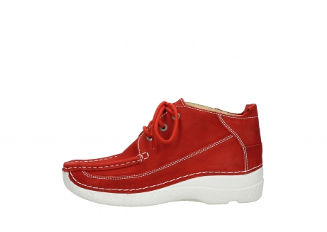 wolky chaussures a lacets 06200 roll moc 11570 nubuck rouge_1