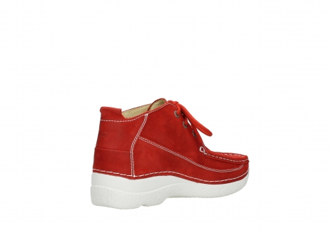 wolky chaussures a lacets 06200 roll moc 11570 nubuck rouge_10