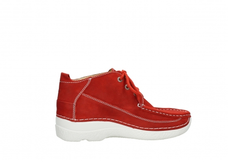 wolky chaussures a lacets 06200 roll moc 11570 nubuck rouge_12