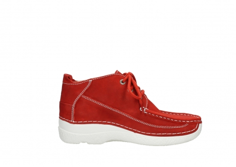 wolky chaussures a lacets 06200 roll moc 11570 nubuck rouge_13