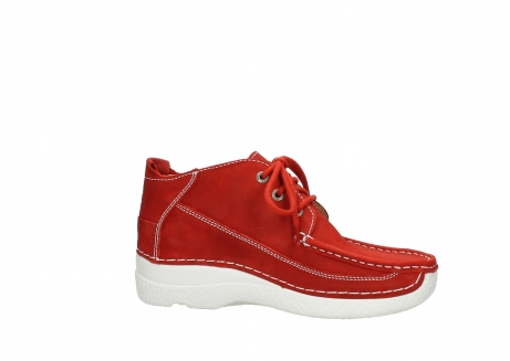 wolky chaussures a lacets 06200 roll moc 11570 nubuck rouge_14