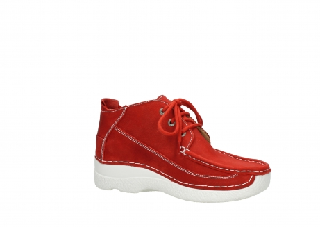 wolky chaussures a lacets 06200 roll moc 11570 nubuck rouge_15