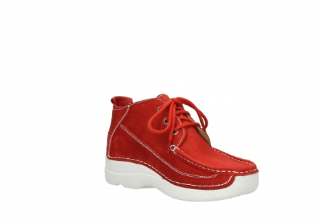 wolky chaussures a lacets 06200 roll moc 11570 nubuck rouge_16