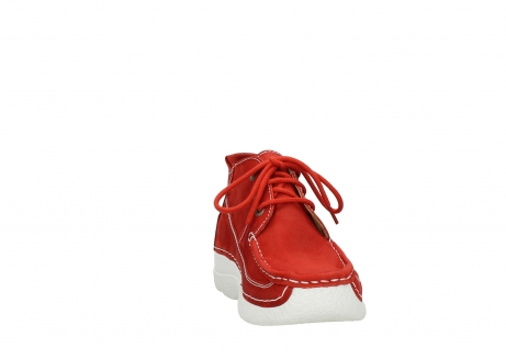 wolky chaussures a lacets 06200 roll moc 11570 nubuck rouge_18