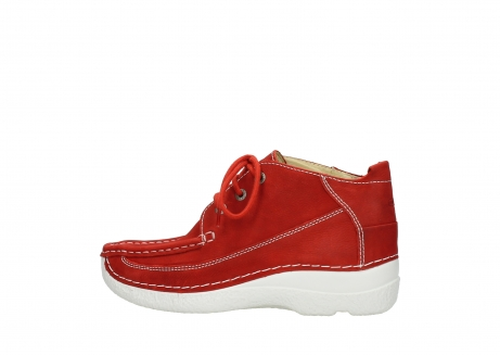 wolky chaussures a lacets 06200 roll moc 11570 nubuck rouge_2