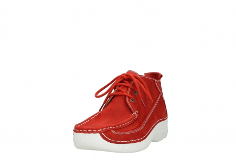 wolky chaussures a lacets 06200 roll moc 11570 nubuck rouge_21
