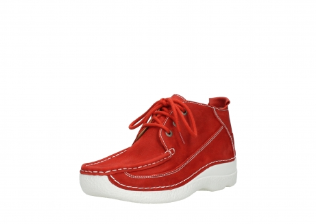 wolky chaussures a lacets 06200 roll moc 11570 nubuck rouge_22