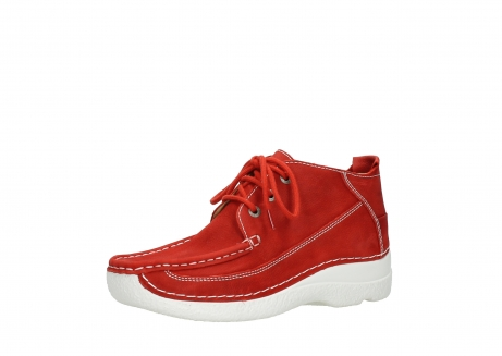 wolky chaussures a lacets 06200 roll moc 11570 nubuck rouge_23