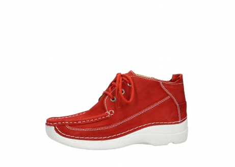 wolky chaussures a lacets 06200 roll moc 11570 nubuck rouge_24