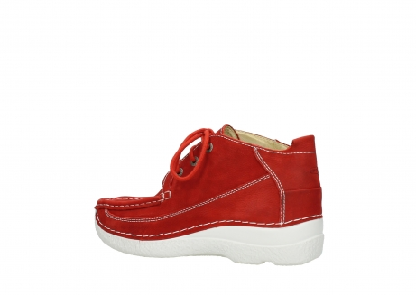 wolky chaussures a lacets 06200 roll moc 11570 nubuck rouge_3