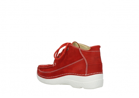 wolky chaussures a lacets 06200 roll moc 11570 nubuck rouge_4