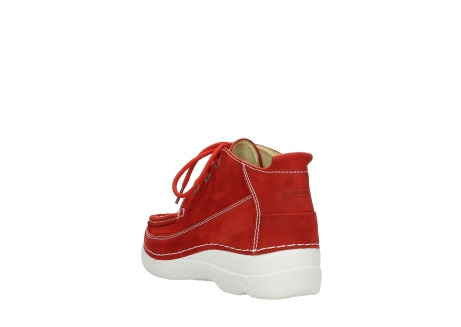 wolky chaussures a lacets 06200 roll moc 11570 nubuck rouge_5