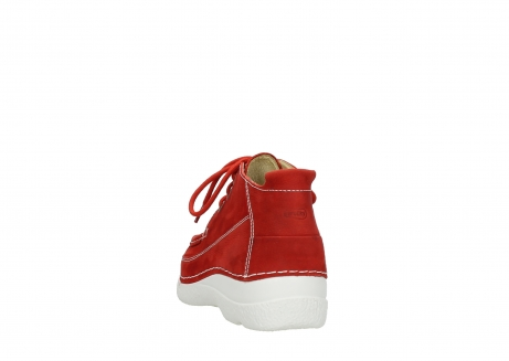 wolky chaussures a lacets 06200 roll moc 11570 nubuck rouge_6