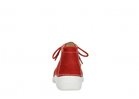 wolky chaussures a lacets 06200 roll moc 11570 nubuck rouge_7
