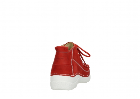 wolky chaussures a lacets 06200 roll moc 11570 nubuck rouge_8