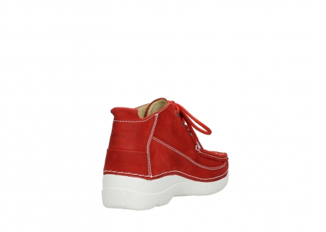 wolky chaussures a lacets 06200 roll moc 11570 nubuck rouge_9