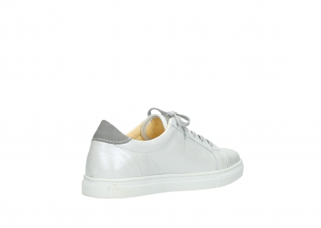 wolky chaussures a lacets 09440 perry 81100 cuir blanc metallic_10