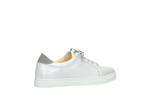 wolky chaussures a lacets 09440 perry 81100 cuir blanc metallic_11