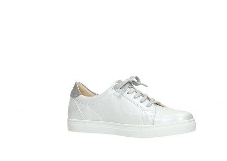 wolky chaussures a lacets 09440 perry 81100 cuir blanc metallic_15