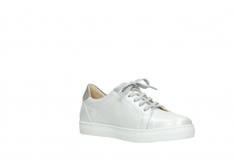 wolky chaussures a lacets 09440 perry 81100 cuir blanc metallic_16