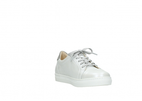 wolky chaussures a lacets 09440 perry 81100 cuir blanc metallic_17