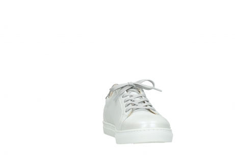 wolky chaussures a lacets 09440 perry 81100 cuir blanc metallic_18