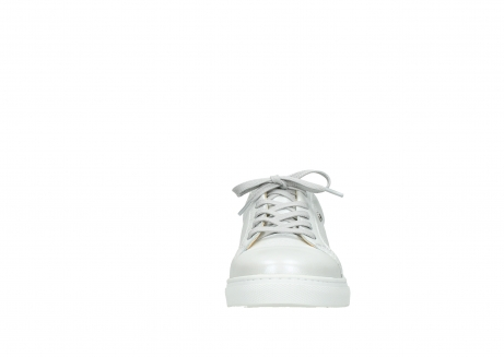 wolky chaussures a lacets 09440 perry 81100 cuir blanc metallic_19