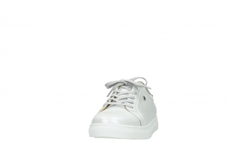 wolky chaussures a lacets 09440 perry 81100 cuir blanc metallic_20