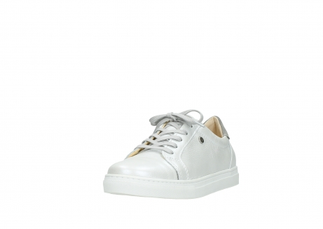 wolky chaussures a lacets 09440 perry 81100 cuir blanc metallic_21