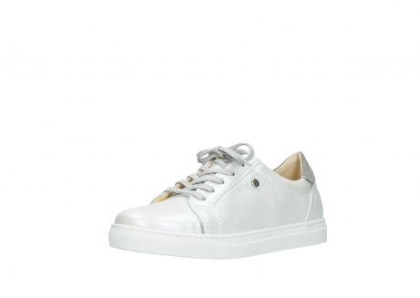 wolky chaussures a lacets 09440 perry 81100 cuir blanc metallic_22
