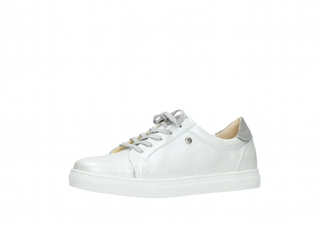 wolky chaussures a lacets 09440 perry 81100 cuir blanc metallic_23