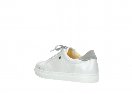 wolky chaussures a lacets 09440 perry 81100 cuir blanc metallic_4