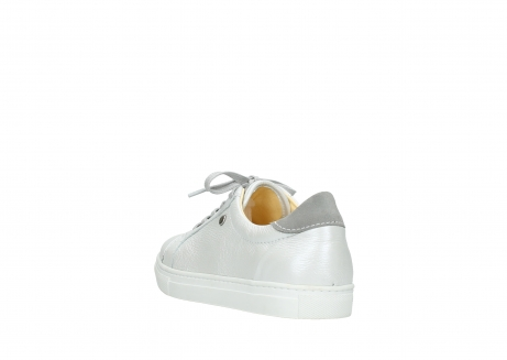 wolky chaussures a lacets 09440 perry 81100 cuir blanc metallic_5