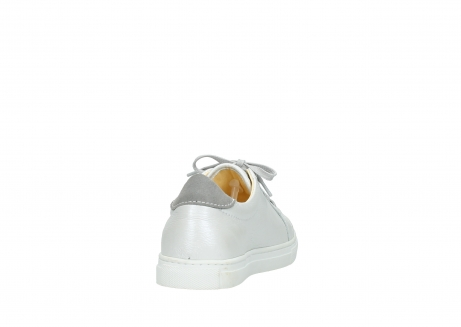 wolky chaussures a lacets 09440 perry 81100 cuir blanc metallic_8