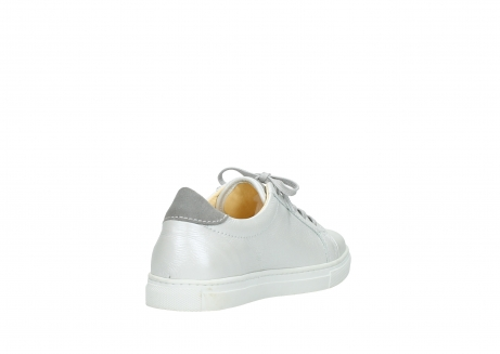 wolky chaussures a lacets 09440 perry 81100 cuir blanc metallic_9