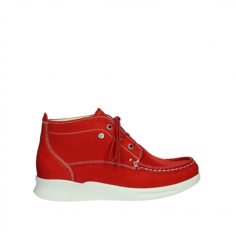 wolky bottines a lacets 05906 six 10570 nubuck extensible rouge