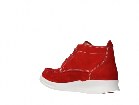 wolky bottines a lacets 05906 six 10570 nubuck extensible rouge_16